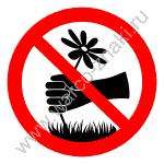 придумай знак запрещающий ловить бабочек