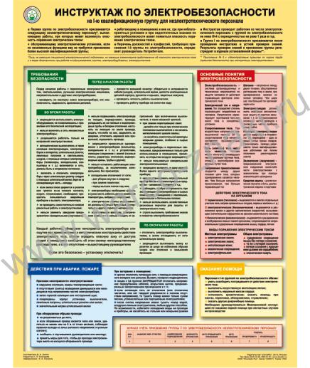 Плакат инструктаж по электробезопасности на 1 группу билеты и ответы на экзамен по электробезопасности 2 группа